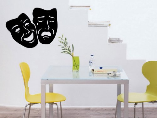 Comedy Tragedy Theater Mask Art Wall Decal Sticker front-1016844