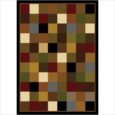 "Royalty Check Black Contemporary Rug Size: 43"" x 62"""