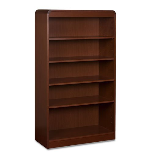 Lorell 5-Shelf Adjustable Bookcase, 36 by 12 by 60-Inch, Mahogany Storage Mahogany 5 Shelf Bookcase