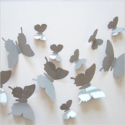 Autek-3D-Papillons-dans-un-style-3D-12-pices-dcoration-murale-avec-des-points-de-colle-pour-fixer-gris