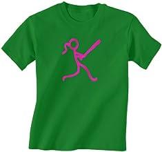 Softball T-Shirt Short Sleeve - Stick Figure Batter
