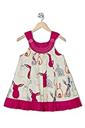 Soulfairy Girls' Dress (SS16-DRSFRL-005_Pink_2-3 Years)