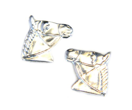 Horse Head Stud Earring - Genuine 925 Sterling Silver