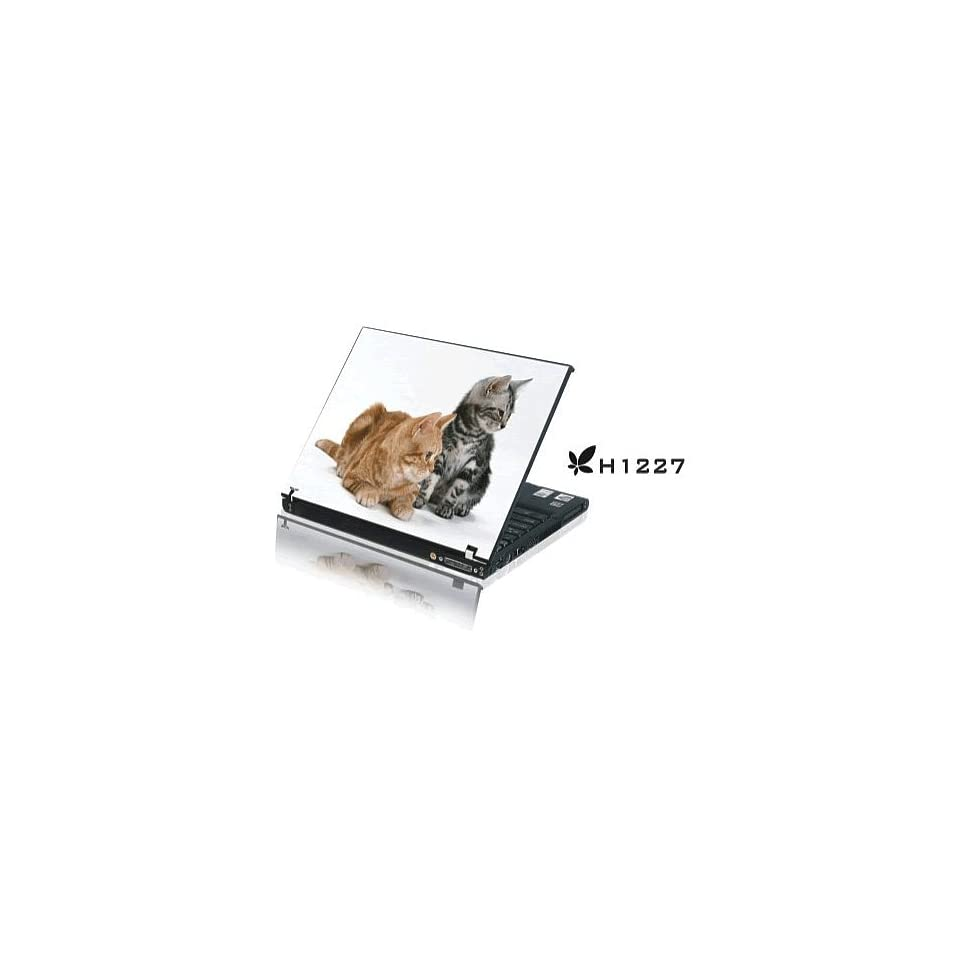 15.4 Laptop Notebook Skins Sticker Cover H1227 Kittens (Brand New with 2 FREE touch pad decals)