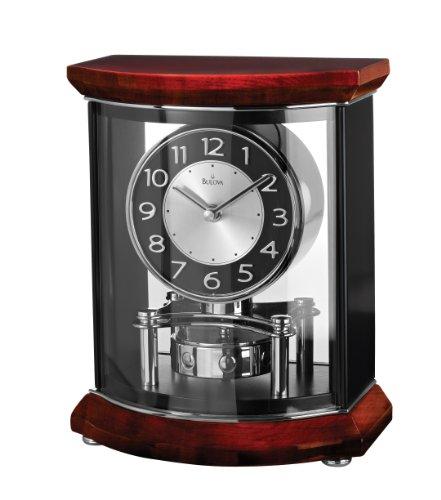 Bulova B1718 Gentry High Gloss Clock, Piano Finish