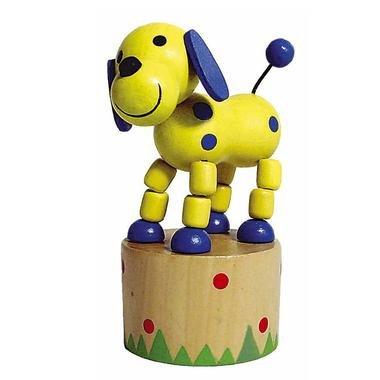 Jouet en bois Wakouwa Marionnette Animal articulé Enfant 3 ans +. - Chien