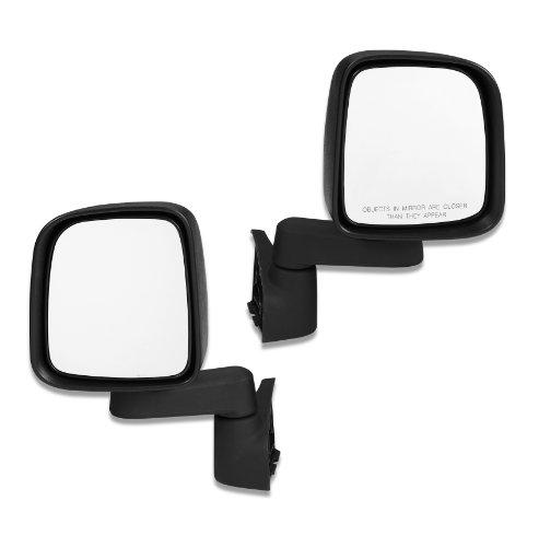 Bestop 51261-01 Highrock Black Full Door Replacement Mirror