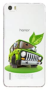 WOW Transparent Printed Back Cover Case For Huawei Honor 6