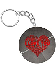 Love Struck | ShopTwiz WOODEN Circle Key Ring