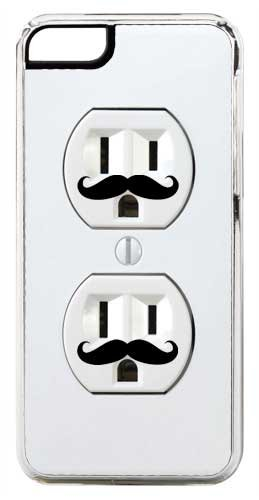 Iphone 6 Case, Cellpowercasestm Mustache Electric Outlet [Hd Series] - Iphone 6 (4.7) Clear Case [Iphone 6 (4.7) V3 Clear]