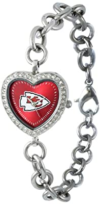 NFL Women's FH-KC Heart Collection Kansas City Chiefs Watch