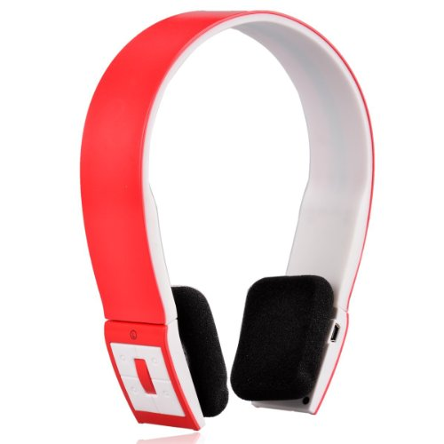 Viigoo 2.4Ghz Wireless Bluetooth V3.0 Stereo Audio Headset Headphone-Red