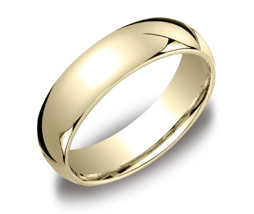 Men's 14k Yellow Gold 6mm Comfort Fit Wedding Band Ring, Size 11.5