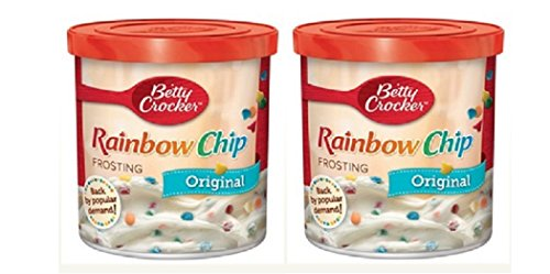 Betty Crocker Original Rainbow Chip Frosting, 16 oz. (Pack of 2) (Funfetti Icing compare prices)