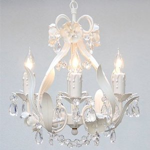 Wrought Iron Floral Chandelier Crystal Flower Chandeliers Lighting Hfive X Wone Swag Plug In