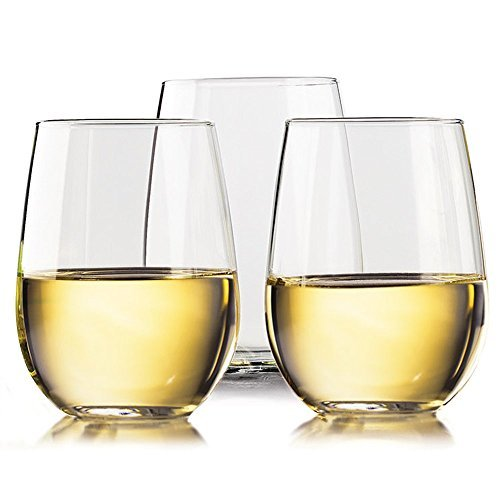 Unbreakable Wine glasses by TaZa - 100% Tritan Dishwasher-safe, shatterproof plastic wine glasses - Smooth Rims -Set of 4 - 16 oz (Design Wine Glasses compare prices)