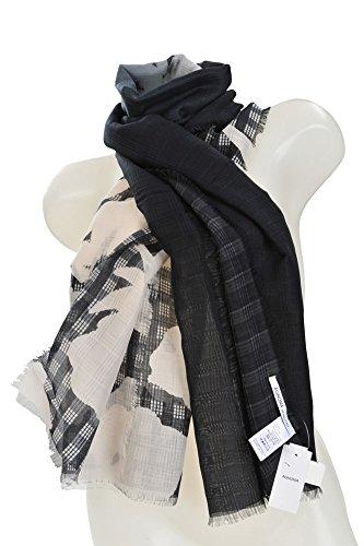 agnona-bufanda-negro-algodon-seda-97-x-35