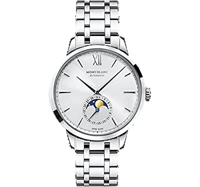 Mont Blanc Montblanc Meisterstuck Heritage Moonstruck Silver Dial Stainless Steel Mens Watch 111184