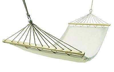 Hängematte aus Baumwolle mit Seildurchführungen aus Holz von Tops - Gartenmöbel von Du und Dein Garten
