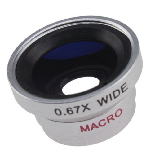 Leegoal(TM) Detachable 0.67X Wide Angle Macro Lens for Apple iPhone, iPod Nano 5, Camera Phones (Camera Lens Smaller than 9.5mm)