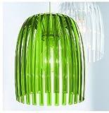 Koziol Lampada A Sospensione Josephine, Plastica, trasparente verde, m, E27