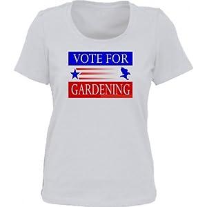 VOTE FOR GARDENING *Bella Ladies/ JUNIORS Short Sleeve Scoop Neck FITTED TEE (T-Shirt) Various Colors