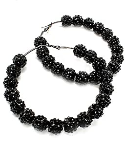 Basketball Wives Hoop Earrings - Fireball Black