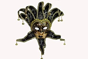 .com: Black Women's Jester Mask: Decorative Masks: Kitchen & Dining