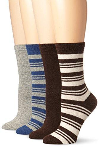 Steve Madden Legwear Women's 4 Pack Stripe Boot Socks Reviews