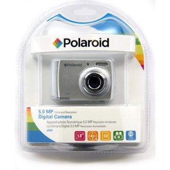 Polaroid CAA-500SC 5MP CMOS Digital Camera with 1.8-Inch LCD Display (Silver)