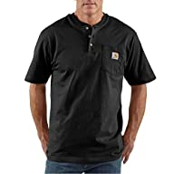 Carhartt Men's Big & Tall Workwear Pocket Short Sleeve Henley Original Fit K84