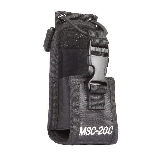 CAROO MSC-20C Nylon Radio Case Holder for Kenwood/Yaesu/Icom MotorolaGP338+/344/328/ Baofeng BF-666S/777S/888S, Black (Radio Belt Holder compare prices)