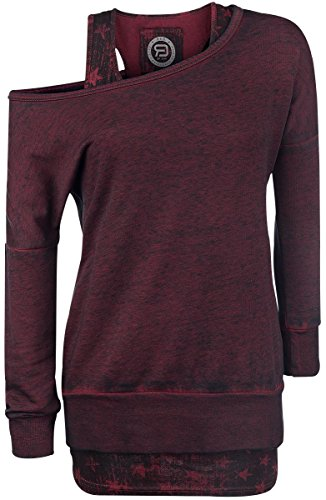 R.E.D. by EMP 2 in1 Burnout Sweatshirt Felpa donna bordeaux M