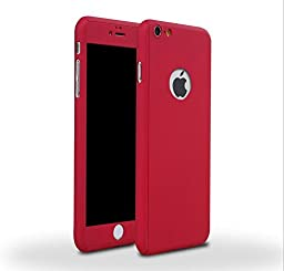 iPhone 6 Plus/6s Plus 5.5 Inch Full Body Case-Superstart Red Ultra Slim Front and Back PC Hard Cover + Tempered Glass Sreen Protector for iPhone 6 Plus/6s Plus 5.5 Inch