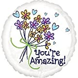Anagram International 2452301 You're Amazing Bouquet Packaged Balloon, 18