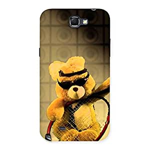 Cute Teddy Racket Back Case Cover for Galaxy Note 2