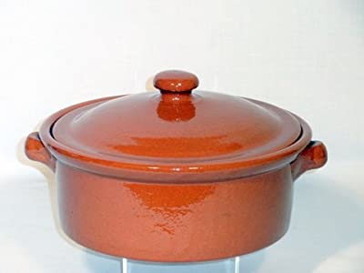 Genuine Terracotta 1l Casserole Dish With Lid - Classic Colour from Be-Active
