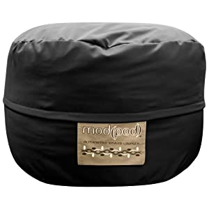 Elite 3.5-Foot Twill Mod Pod Foam Large Bean Bag Sofa