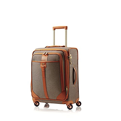 hartmann-herringbone-luxe-softside-carryon-expandable-spinner-luggage-terracotta