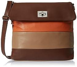 Butterflies Women's Handbag (Brown) (Bns 0538Bn)
