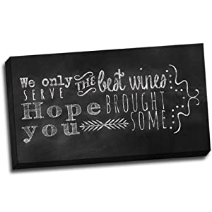 "Best Wines"" Chalkboard Quote Wall Decoration typography Art Image"