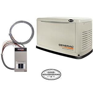 Generac Guardian Series 5870 8,000 Watt Air-Cooled Liquid - Generators
