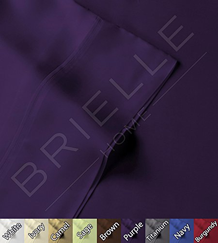 Cheapest Price! Brielle Bamboo Standard Pillowcase Set -100% Rayon from Bamboo (Royal Purple)