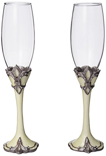 Decorative-Fleur-De-Lis-Wedding-Toasting-Flutes