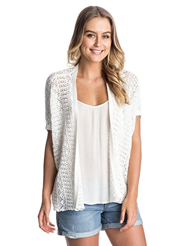 Roxy Women's Same Old Feeling Open Cardigan White L