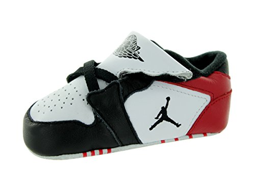 Nike Jordan Toddler Jordan 1st Crib (CB) White/Black/Gym Red Casual Shoe 4 Infants US