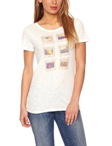 Lee Slim Beach Printed Women's T-Shirt Off White