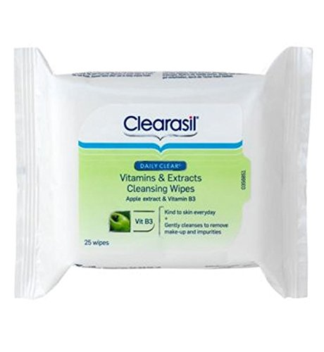 Clearasil® Dailyclear® Vitamines Et Extraits Lingettes Nettoyantes