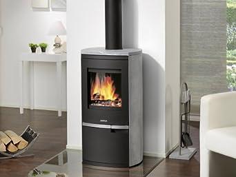 justus reno r 4790 22 kaminofen speckstein korpus schwarz elektro gro ger te. Black Bedroom Furniture Sets. Home Design Ideas