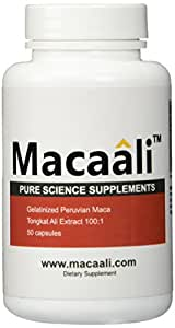 Macaali - Maca with Tongkat Ali Extract - All Natural Male Enhancement Formula combining Maca Root Powder and Tongkat Ali Extract 50 capsules